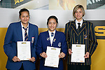 Girls Basketball finalists Milika Nathan, Jordan Hunter & Petra Erceg. ASB College Sport Young Sportperson of the Year Awards 2007 held at Eden Park on November 15th, 2007.