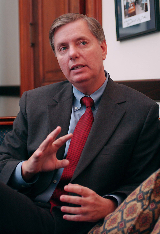 01/27/05.GRAHAM--Sen. Lindsey Graham, R-S.C., during an interview in his office on social security reform..CONGRESSIONAL QUARTERLY PHOTO BY SCOTT J. FERRELL