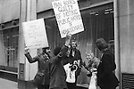 "Gay Liberation Front demonstration agains Dr David Reubens book published by Pan Books. central London 1971. A 12-foot papier-mache cucumber was delivered to the offices of Pan Books in protest at Dr David Reuben's homophobic book, ""Everything You Always Wanted To Know About Sex"", which suggested that all gay men were ""obsessed with shoving vegetables up their ..."""