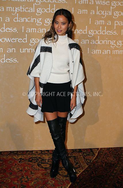 WWW.ACEPIXS.COM<br /> <br /> September 15 2015, New York City<br /> <br /> Jamie Chung at the Alice + Olivia by Stacey Bendet presentation, Spring Summer 2016 at New York Fashion Week on September 15 2015 in New York City<br /> <br /> By Line: Nancy Rivera/ACE Pictures<br /> <br /> <br /> ACE Pictures, Inc.<br /> tel: 646 769 0430<br /> Email: info@acepixs.com<br /> www.acepixs.com