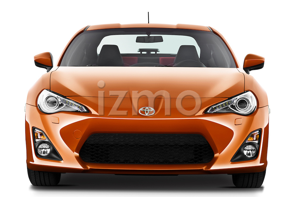 Straight front view of a 2013 Toyota GT86 Sport Coupe
