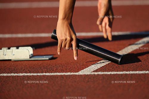 Detail shot, MAY 16, 2014 - Athletics : The 93rd Kanto University Athletics Championship at Kumagaya Sports Culture Park Athletics Stadium, Saitama, Japan. (Photo by Yohei Osada/AFLO SPORT)