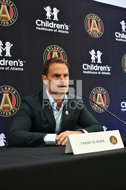 Atlanta, Georgia - Monday, January 14, 2019. Atlanta United introduced new manager Frank de Boer to the media at the team's Children's Healthcare Training Center.