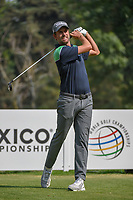 Webb Simpson (USA) watches his tee shot on 18 during round 2 of the World Golf Championships, Mexico, Club De Golf Chapultepec, Mexico City, Mexico. 3/2/2018.<br /> Picture: Golffile | Ken Murray<br /> <br /> <br /> All photo usage must carry mandatory copyright credit (&copy; Golffile | Ken Murray)
