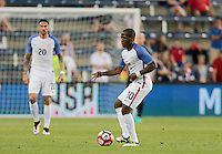 Kansas City, KS. - May 28, 2016: The U.S. Men's national team take a 4-0 lead over Bolivia in second half action during an international friendly tuneup match prior to the opening of the 2016 Copa America Centenario at Children's Mercy Park.