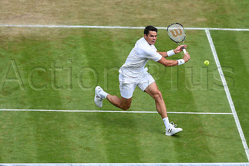 02.07.2016. All England Lawn Tennis and Croquet Club, London, England. The Wimbledon Tennis Championships Day Six.  Milos Raonic (Can)