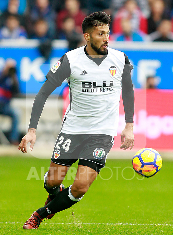 Valencia CF's Ezequiel Garay during La Liga match. October 28,2017. (ALTERPHOTOS/Acero)