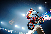 3rd February 2019, Palau Sant Jordi, Barcelona, Spain; FIM X Trial World Championships; Takahisa Fujinami of the Repsol Honda Team in action during the Trial Barcelona