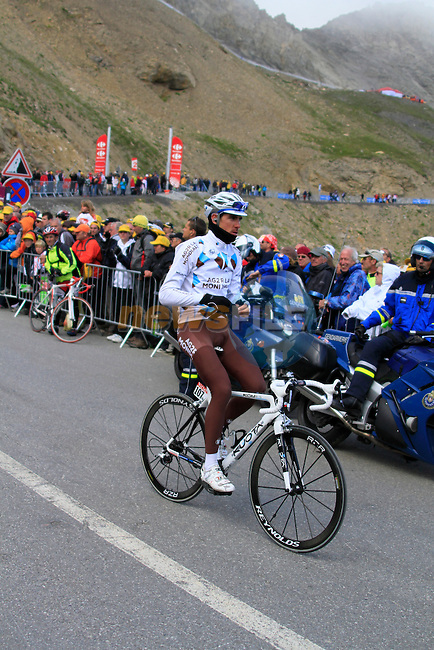 Sebastien Minard (FRA) AG2R La Mondiale exits the tunnel near the summit finish on Col du Galibier of Stage 18 of the 2011 Tour de France from Pinerolo, Italy to Galibier Serre-Chevalier, 21st July 2011 (Photo by Steven Franzoni/NEWSFILE)