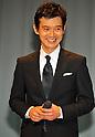 "Atsuro Watabe, April 19, 2012 : Tokyo, Japan : Actor Atsuro Watanabe(R) attends a premiere for the film ""Gaijikeisatsu"" In Tokyo, Japan, on April 19, 2012."