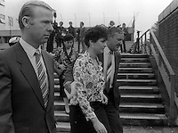 Pix: Copyright Anglia Press Agency/Archived via SWpix.com. The Bamber Killings. August 1985. Murders of Neville and June Bamber, daughter Sheila Caffell and her twin boys. Jeremy Bamber convicted of killings serving life...copyright photograph>>Anglia Press Agency>>07811 267 706>>..Julie Mugford, girlfriend of Jeremy Bamber, at Chelmsford Crown Court. no date..ref 0004 neg 9..
