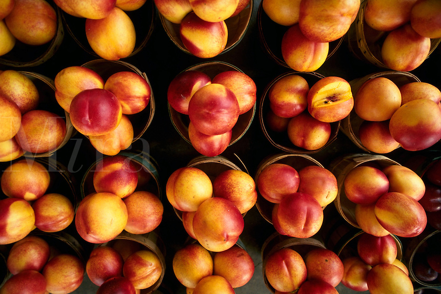 Peaches at the farmers market.