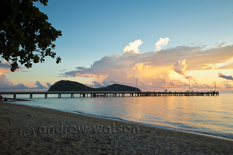 Palm Cove jetty at dawn.  Palm Cove, Cairns, Queensland, AUSTRALIA