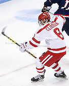 Ryan Cloonan (BU - 8) - The Boston University Terriers defeated the visiting University of Connecticut Huskies 4-2 (EN) on Saturday, October 24, 2015, at Agganis Arena in Boston, Massachusetts.
