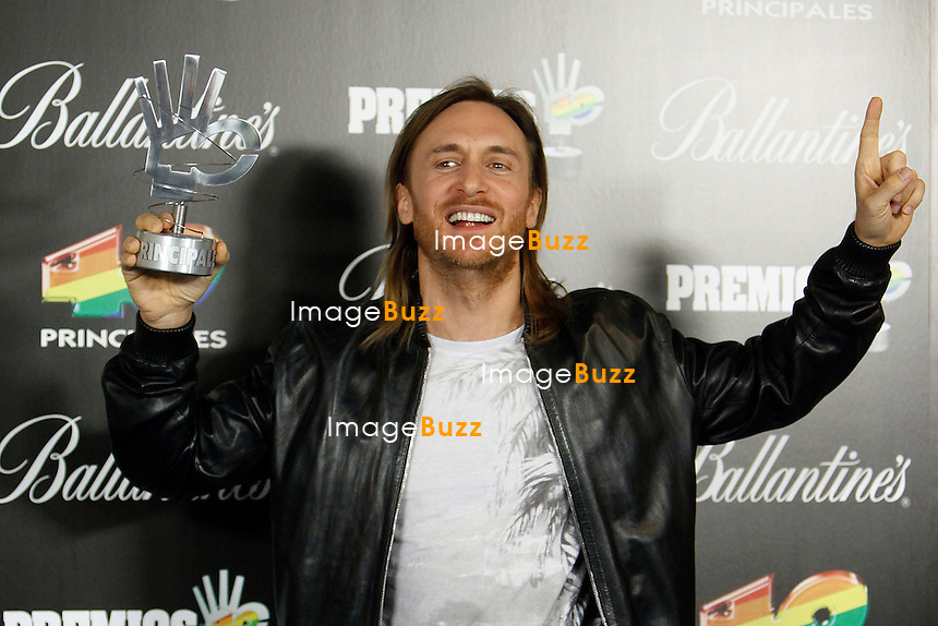 "David Guetta attends the "" 40 Principales Awards "" at Palacio de los Deportes in Madrid, Spain. January 24, 2013. ......."