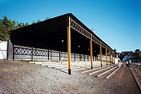 Covered terracing at Alloa Athletic FC Football Ground, Recreation Park, Alloa, Scotland, pictured on 26th July 1999