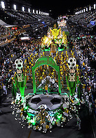 Float of Imperatriz Leopoldinense samba school perform during parade at the Sambadrome, Rio de Janeiro, Brazil, March 3, 2014.  (Austral Foto/Renzo Gostoli)