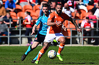 Blackpool's Kyle Vassell in action<br /> <br /> Photographer Richard Martin-Roberts/CameraSport<br /> <br /> The EFL Sky Bet League One - Blackpool v Fleetwood Town - Saturday 14th April 2018 - Bloomfield Road - Blackpool<br /> <br /> World Copyright &not;&copy; 2018 CameraSport. All rights reserved. 43 Linden Ave. Countesthorpe. Leicester. England. LE8 5PG - Tel: +44 (0) 116 277 4147 - admin@camerasport.com - www.camerasport.com