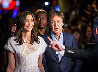 LAS VEGAS, NV - July 14, 2016: Nancy Shevell and Paul McCartney pictured arriving at The Beatles LOVE by Cirque Du Soleil at The Mirage Resort in Las vegas, NV on July 14, 2016. Credit: Erik Kabik Photography/ MediaPunch