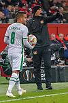 29.11.2018, BayArena, Leverkusen, Europaleque, Vorrunde, GER, UEFA EL, Bayer 04 Leverkusen (GER) vs. Ludogorez Rasgrad (BUL),<br />  <br /> DFL regulations prohibit any use of photographs as image sequences and/or quasi-video<br /> <br /> im Bild / picture shows: <br /> Heiko Herrlich Trainer (Bayer Leverkusen),<br /> <br /> Foto &copy; nordphoto / Meuter<br /> <br /> <br /> <br /> Foto &copy; nordphoto / Meuter