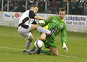 21/04/2007       Copyright Pic: James Stewart.File Name : sct_jspa17_gretna_v_clyde.JAMES GRADY AND DAVID HUTTON CHALLENGE......James Stewart Photo Agency 19 Carronlea Drive, Falkirk. FK2 8DN      Vat Reg No. 607 6932 25.Office     : +44 (0)1324 570906     .Mobile   : +44 (0)7721 416997.Fax         : +44 (0)1324 570906.E-mail  :  jim@jspa.co.uk.If you require further information then contact Jim Stewart on any of the numbers above.........