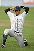 July 8 2009: Joey Wong of the Tri City Dust Devils before game against the Salem-Kaizer Volcanoes at Volcano  Stadium in Kaizer,OR.  Photo by Larry Goren/Four Seam Images