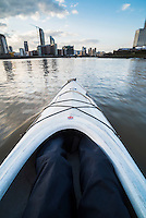 Kayaking on the River Thames, London, England
