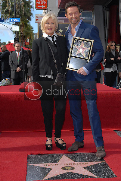 Deborra-Lee Furness, Hugh Jackman<br /> at the Hugh Jackman Star on the Hollywood Walk of Fame Ceremony, Hollywood, CA 12-13-12<br /> David Edwards/DailyCeleb.com 818-249-4998
