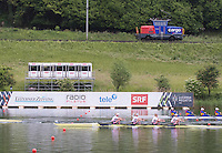 Lucerne, SWITZERLAND<br /> <br /> GBR W4X, Bow Kristina STILLER, Jessica LEYDEN, Holly NIXON and Rosamund BRADBURY. 2016 European Olympic Qualifying Regatta, Lake Rotsee.<br /> <br /> Monday  23/05/2016<br /> <br /> [Mandatory Credit; Peter SPURRIER/Intersport-images]