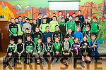 Medal Presentation : The Ballyduff U/10 & U/12 hurlers & footballers who were presented with their medals by Clare Hurler Tony Kelly at Ballyduff Central School on Saturday nigh last.