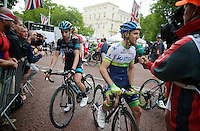 Simon Yates (GBR/Orica-GreenEDGE) interviewed post-race<br /> <br /> 2014 Tour de France<br /> stage 3: Camebridge-London (155km)