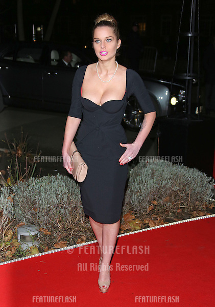 Helen Flanagan arriving for the Night of Heroes: The Sun Military Awards 2012 held at the Imperial War Museum, london, 06/12/2012 Picture by: Henry Harris / Featureflash