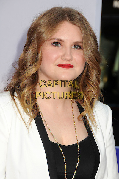 "Jillian Bell.""The Campaign"" Los Angeles Premiere held at Grauman's Chinese Theatre, Hollywood, California, USA..August 2nd, 2012.headshot portrait black white gold necklace red lipstick .CAP/ADM/BP.©Byron Purvis/AdMedia/Capital Pictures."