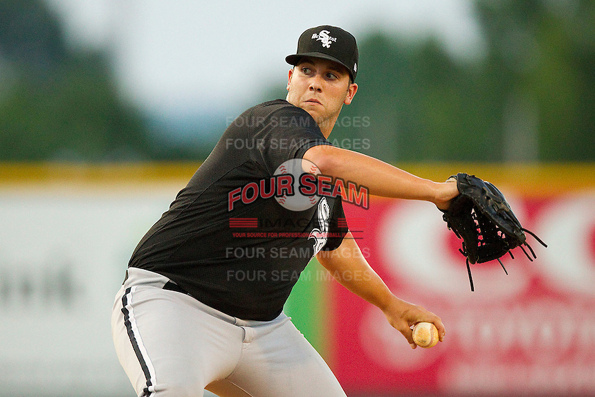 Relief pitcher Todd Kibby #31 of the Bristol White Sox in action against the Burlington Royals at Burlington Athletic Park on July 9, 2011 in Burlington, North Carolina.  The Royals defeated the White Sox 3-2.   (Brian Westerholt / Four Seam Images)