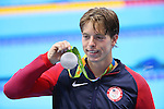Jaeger Connor (USA), <br /> Gabriele Detti (ITA), <br /> AUGUST 13, 2016 - Swimming : <br /> Men's 1500m Freestyle Medal Ceremony <br /> at Olympic Aquatics Stadium <br /> during the Rio 2016 Olympic Games in Rio de Janeiro, Brazil. <br /> (Photo by Yohei Osada/AFLO SPORT)