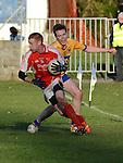 Hunterstown Rovers Brendan Lennon Carrickedmond John Burns. Photo:Colin Bell/pressphotos.ie