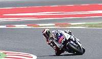 2.06.2012 Barcelona, Spain. Gran Prix Aperol de Catalunya. Qualifying practice. Jorge Lorenzo ridinh Yamaha at Circuit de Catalunya