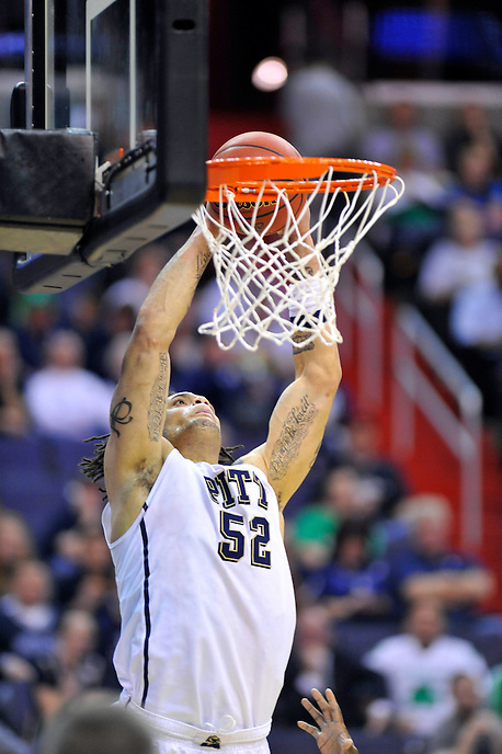 Gary McGhee of the Panthers gets a dunk. Pittsburgh defeated UNC-Asheville 74-51 during the NCAA tournament at the Verizon Center in Washington, D.C. on Thursday, March 17, 2011. Alan P. Santos/DC Sports Box