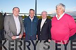 Tom Fleming, TD, Tom McCormack, William Brassil and Denis  Hutchinson at the Kerry General Hospital Benefit Meeting in the Kingdom Greyhound Stadium on Friday