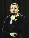 Megan Lewis performing in the School Stars auditions in the TLT Drogheda. Photo: Colin Bell/pressphotos.ie