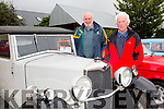 l-r Richard Bono and Brendan Farmer. at the Abbeydorney Vintage & Classic Car & Tractor Run on Saturday