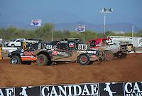 Apr 16, 2011; Surprise, AZ USA; LOORRS driver Ryan Beat (51) leads Austin Kimbrell (88) and Pete Sohren (22) during round 3 at Speedworld Off Road Park. Mandatory Credit: Mark J. Rebilas-.
