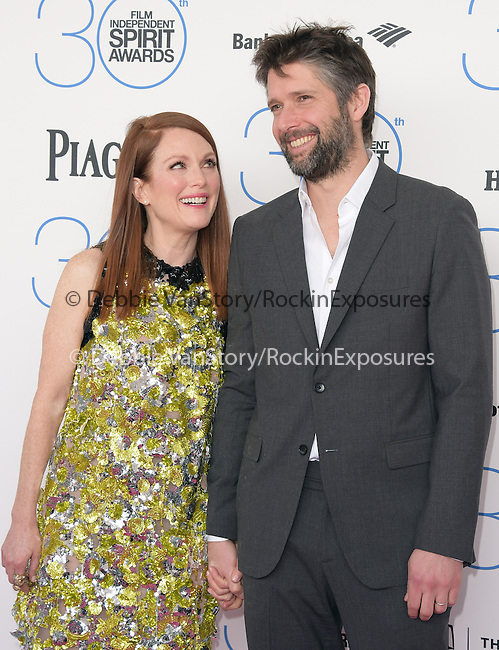 Julianne Moore and husband<br />  attends 2015 Film Independent Spirit Awards held at Santa Monica Beach in Santa Monica, California on February 21,2015                                                                               © 2015Hollywood Press Agency