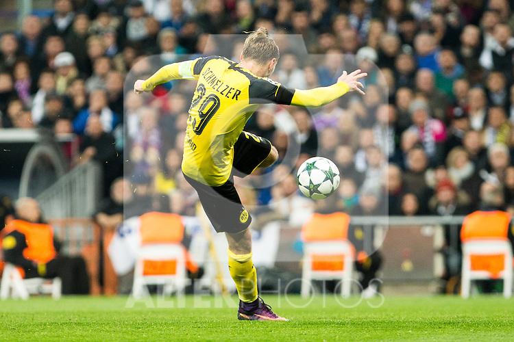Borussia Dortmund Marcel Shmeizer  during Champions League match between Real Madrid and Borussia Dortmund  at Santiago Bernabeu Stadium in Madrid , Spain. December 07, 2016. (ALTERPHOTOS/Rodrigo Jimenez)