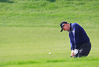 Ernie Els (RSA) chips onto the 5th green during Sunday's Final Round of the 2014 BMW Masters held at Lake Malaren, Shanghai, China. 2nd November 2014.<br /> Picture: Eoin Clarke www.golffile.ie