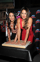 "NEW YORK, NY - MARCH 13:WWE Divas ""The Bella Twins"" (Nikki and Brie Bella) promote their E! series at Planet Hollywood Times Square in New York City ,March 13, 2014 in New York City. © HP/Starlitepics/NortePhoto"