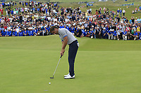 Robert Rock (ENG) putts on the 18th green during Sunday's Final Round of the Dubai Duty Free Irish Open 2019, held at Lahinch Golf Club, Lahinch, Ireland. 7th July 2019.<br /> Picture: Eoin Clarke | Golffile<br /> <br /> <br /> All photos usage must carry mandatory copyright credit (© Golffile | Eoin Clarke)