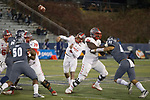 New Mexico quarterback Tevaka Tuioti (8) throws against Nevada in the second half of an NCAA college football game in Reno, Nev., Saturday, Nov. 2, 2019. (AP Photo/Tom R. Smedes)
