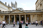 The King's and Queen's Baths and Bath Abbey, Bath, England