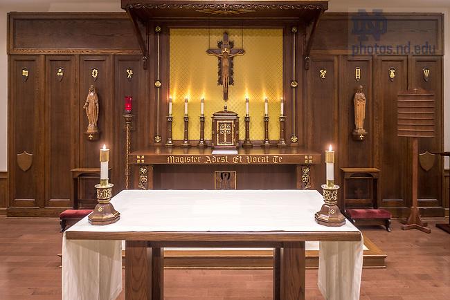 Jan. 15, 2016; St. Edward's Hall chapel after renovation work. (Photo by Matt Cashore/University of Notre Dame)